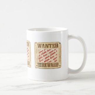 WANTED Poster Photo Frame Mugs