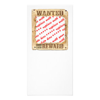 WANTED Poster Photo Frame Photo Greeting Card