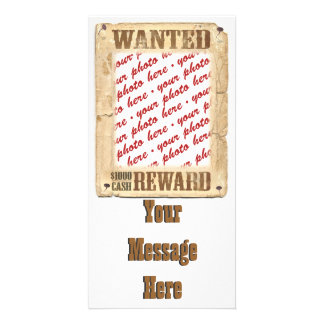 WANTED Poster Photo Frame Personalized Photo Card