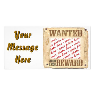 WANTED Poster Photo Frame Photo Card Template