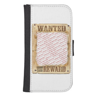 WANTED Poster Photo Frame Phone Wallet Cases