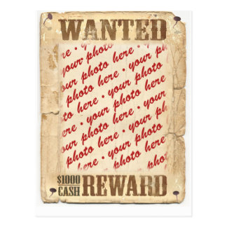 WANTED Poster Photo Frame Postcard