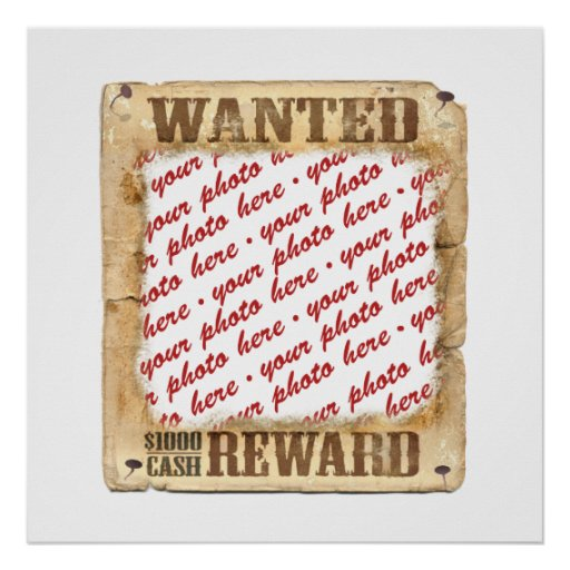 WANTED Poster Photo Frame Poster
