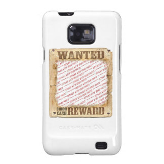 WANTED Poster Photo Frame Template Galaxy S2 Cover