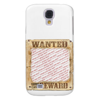 WANTED Poster Photo Frame Template Samsung Galaxy S4 Covers