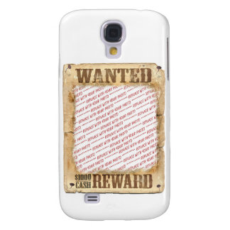WANTED Poster Photo Frame Template Samsung Galaxy S4 Cases