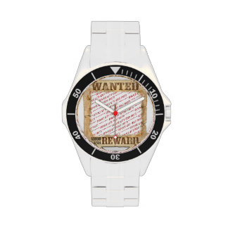 WANTED Poster Photo Frame Template Wrist Watches