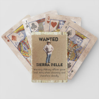 Wanted Poster Playing Cards - Sierra Belle