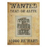 Wanted Poster Print