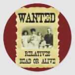Wanted Poster Round Stickers