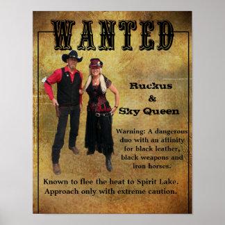 Wanted Poster Ruckus & Sky Queen