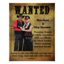 Wanted Poster Ruckus & Sky Queen Wannabes