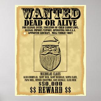 Wanted Poster - Santa Claus
