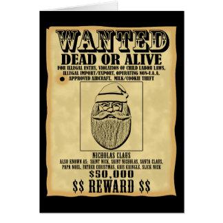 Wanted Poster - Santa Claus Greeting Card