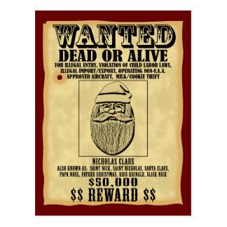 Wanted Poster - Santa Claus Postcard