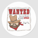Wanted Poster Stickers