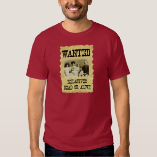 Wanted Poster T Shirt