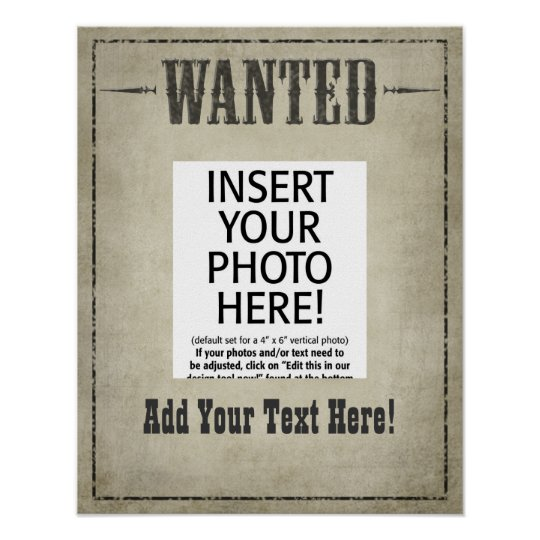 Wanted Poster Template  ZazzleCom