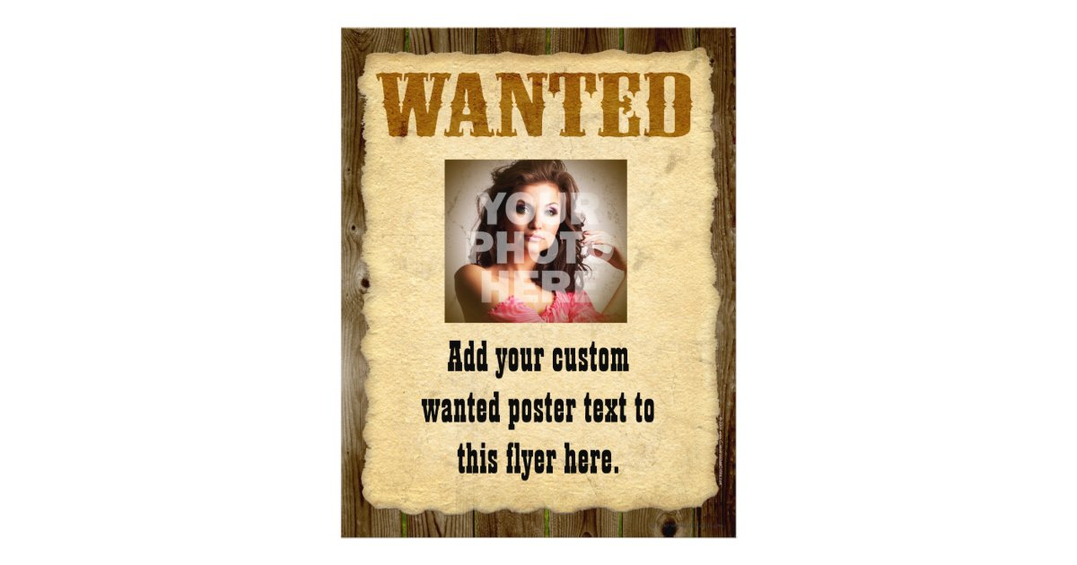 Wanted Poster, Vintage Picture Frame Flyer | Zazzle.com