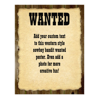 Wanted Poster, Vintage Picture Frame Letterhead