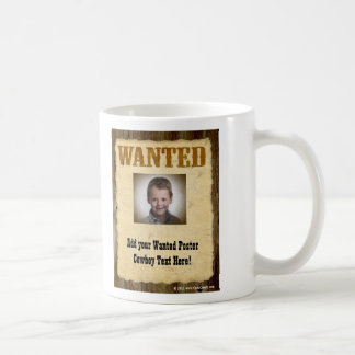 Wanted Poster, Vintage Picture Frame Mugs