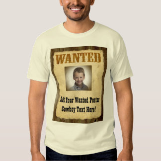 Wanted Poster, Vintage Picture Frame Shirt