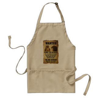 Wanted Poster with Squirrel Apron