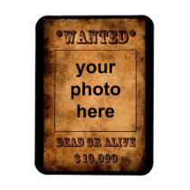 'Wanted' premium magnet