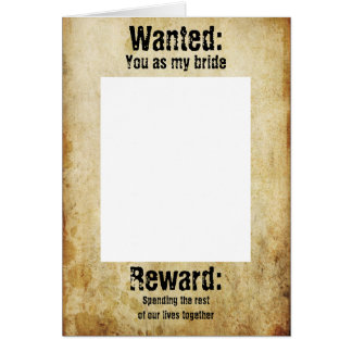 Wanted Proposal card