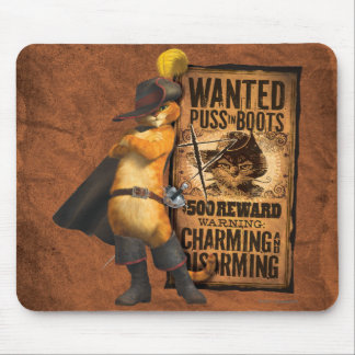 Wanted Puss in Boots (char) Mouse Pad