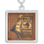 Wanted Puss in Boots (char) Square Pendant Necklace