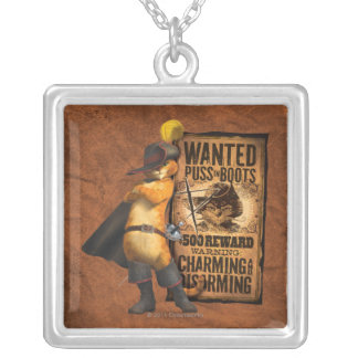 Wanted Puss in Boots (char) Personalized Necklace