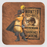 Wanted Puss in Boots (char) Square Sticker
