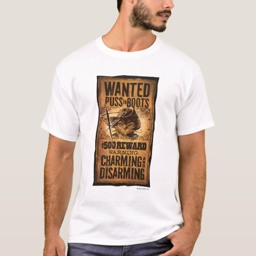 Wanted Puss in Boots T_Shirt