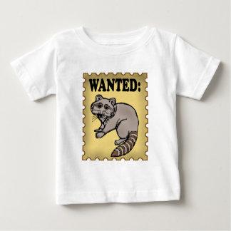 Wanted Raccoon Baby T-Shirt
