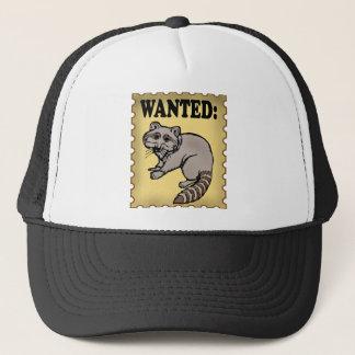 Wanted Raccoon Trucker Hat