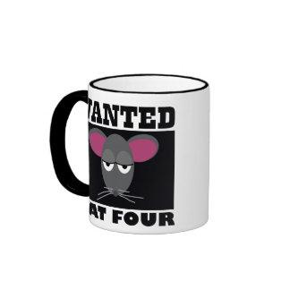 """Wanted RAT FOUR"" Barn Hunt mug"