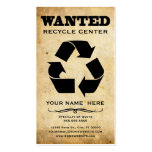 wanted : recycle center business card templates