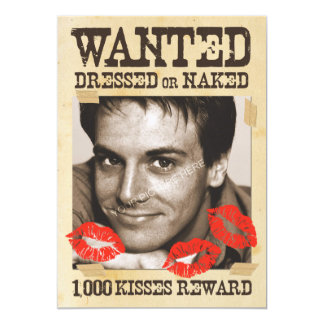 WANTED Red  - Greeting Card