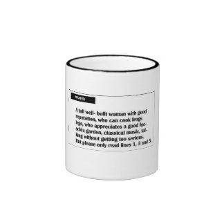 Wanted Ringer Coffee Mug