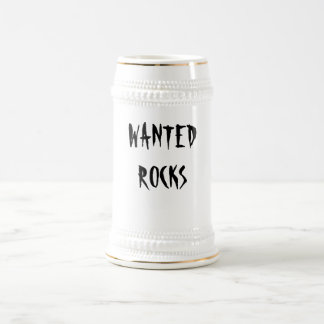 WANTED, ROCKS BEER STEIN