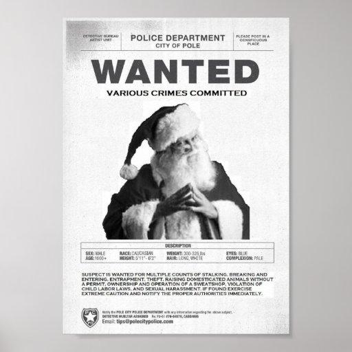 Wanted: Santa Claus Poster