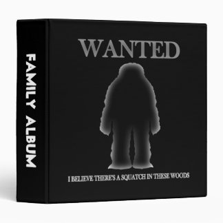 Wanted Sasquatch In Woods Shadow Effect 3 Ring Binder