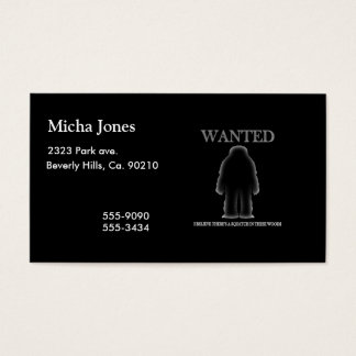 Wanted Sasquatch In Woods Shadow Effect Business Card
