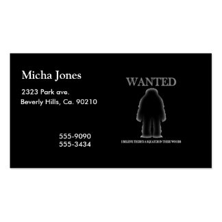 Wanted Sasquatch In Woods Shadow Effect Double-Sided Standard Business Cards (Pack Of 100)