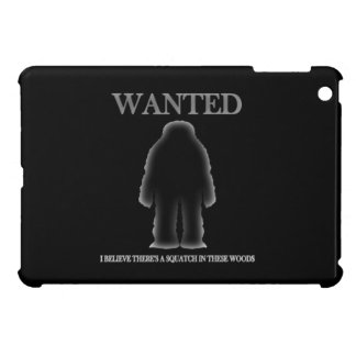 Wanted Sasquatch In Woods Shadow Effect iPad Mini Case