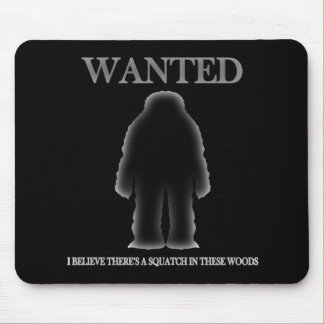 Wanted Sasquatch In Woods Shadow Effect Mouse Pad