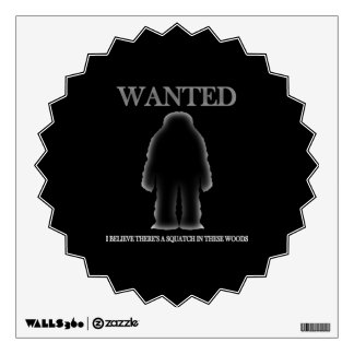 Wanted Sasquatch In Woods Shadow Effect Wall Decal