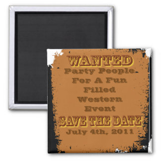 wanted save the date magnet