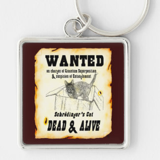 WANTED: Schrodinger's Cat Premium Key Chain